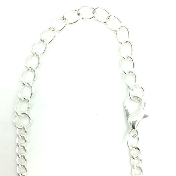 Ready made curb chain 3mm x 5mm 31.5 inches - silver finish